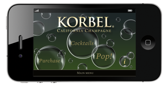 Korbel Champagne POP! Application